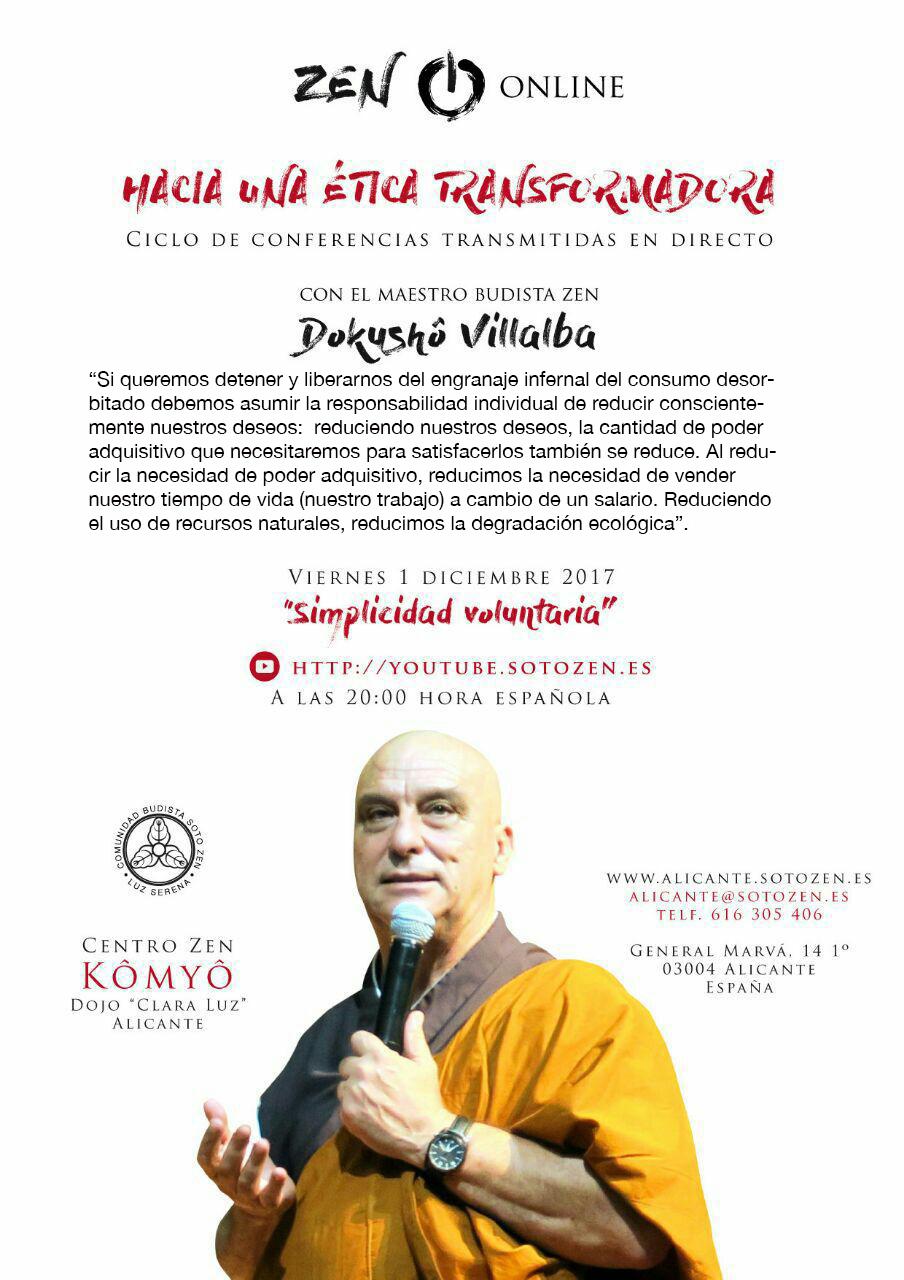 Conferencia: «Simplicidad voluntaria».