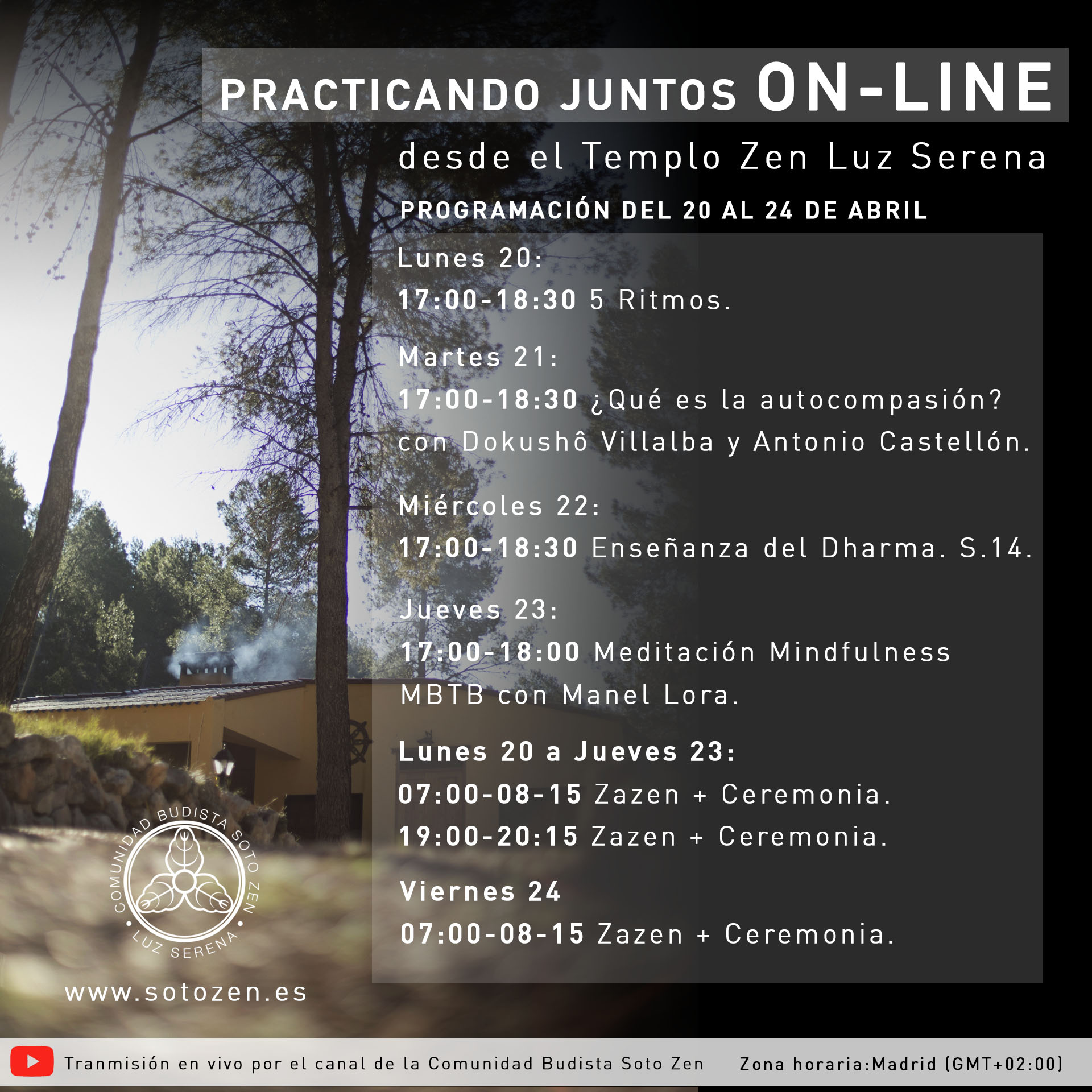 Practicando juntos On Line (20-25 abril)